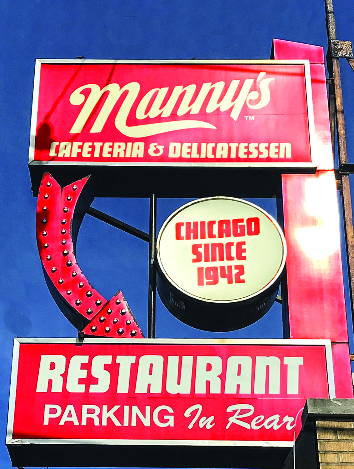 Manny's iconic sign.