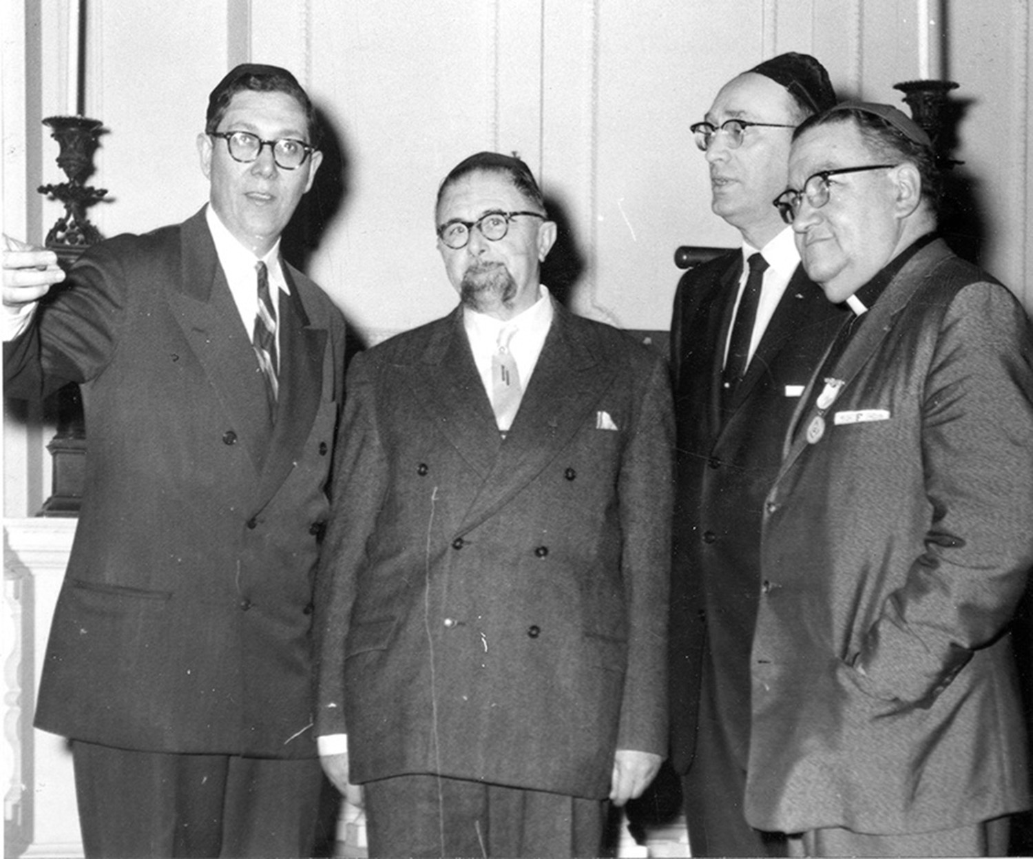 """To Tell the Truth"" winner, Rabbi Theodore Lewis, far left."