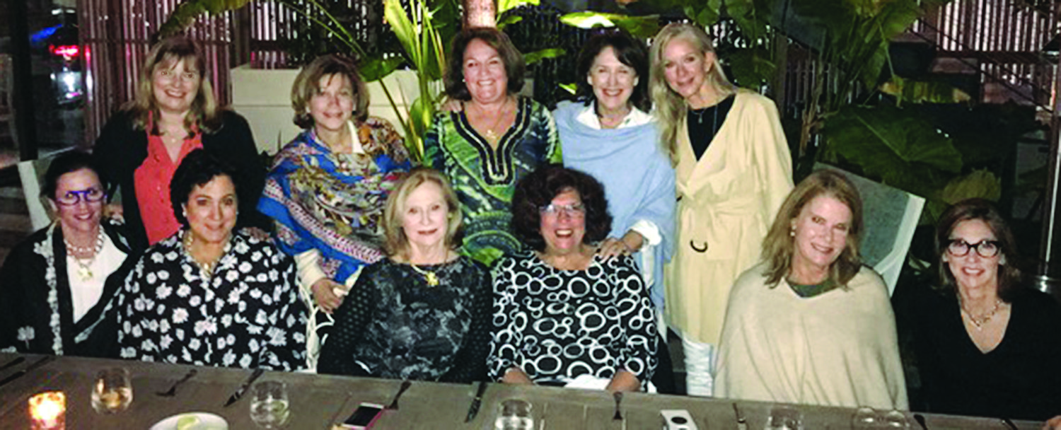 Standing (left to right): Trine Lustig, Jan Goldman,  Cheryl Teverow, Susan Froehlich and Susan Eides. Seated (left to right):  Mindy Wachtenheim, Lezli Pious, Mitzi Berkelhammer, Sharon Gaines, Jeanie Charness and Judy Mann.