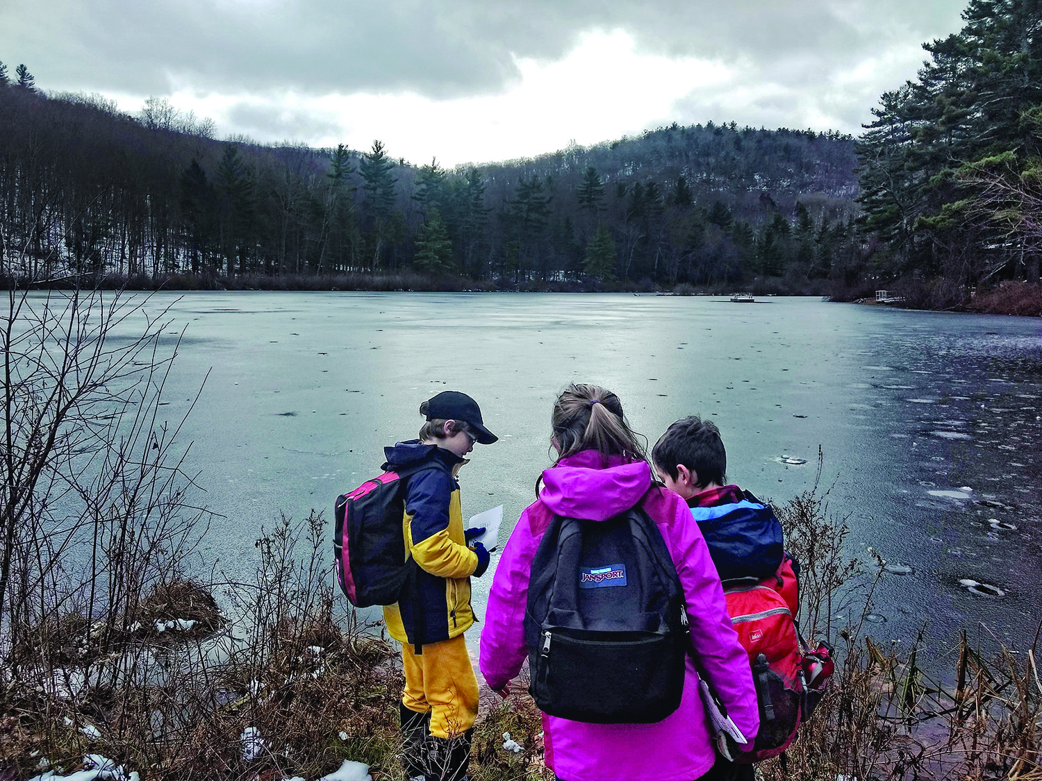Fifth-graders from JCDSRI enjoy the outdoors at Camp Isabella Freedman.