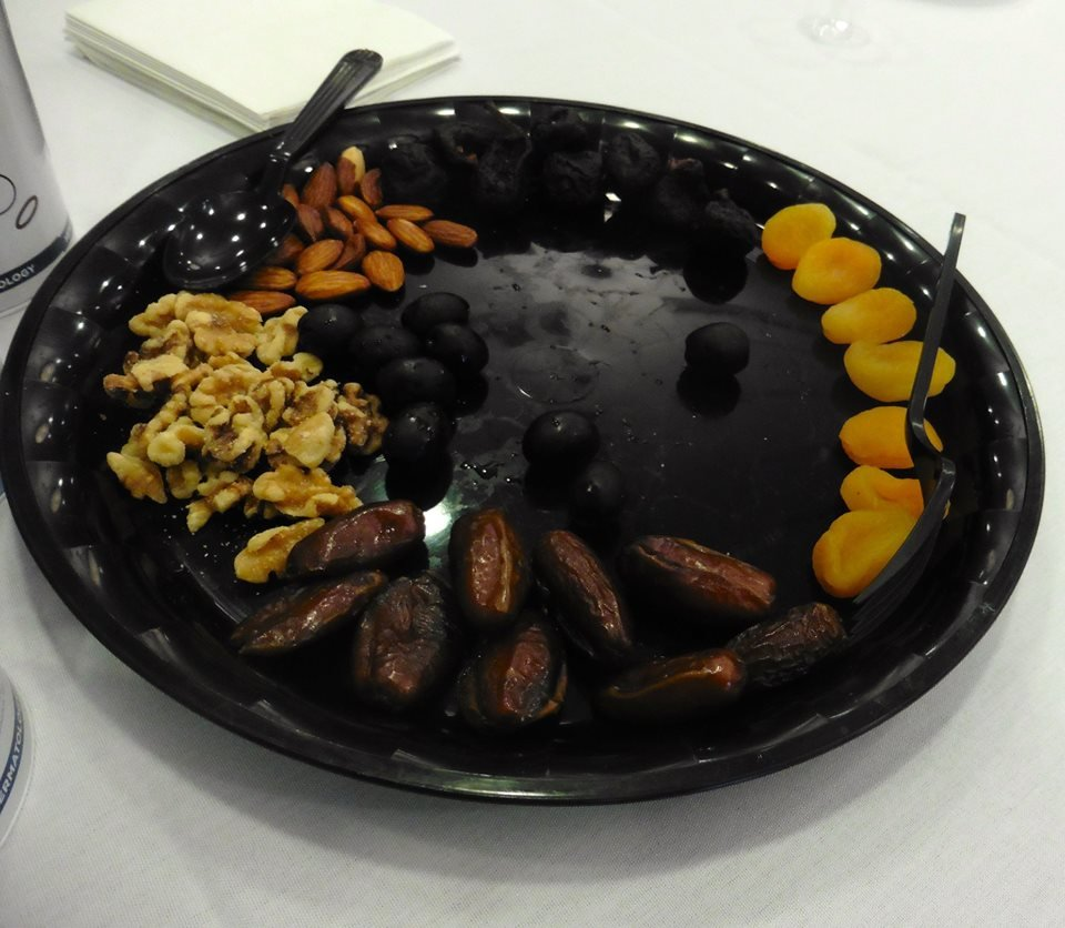 The seder plate at Hadassah Rhode Island's Tu b'Shevat seder, held Feb. 3 at The Phyllis Siperstein Tamarisk Assisted Living Residence, in Warwick.