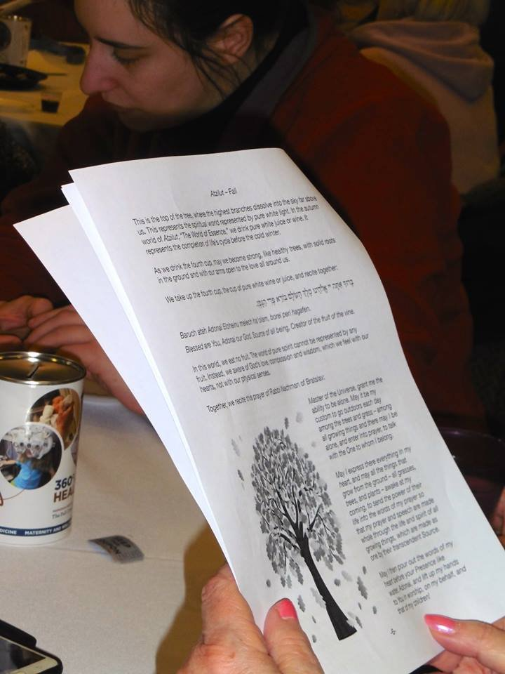 The Tu b'Shevat Haggadah was compiled by Rabbi Jeff Goldwasser, of Cranston's Temple Sinai, and Rabbi Rachel Barenblat.