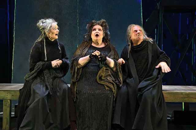 Jeanine Kane (left to right), Janice Duclos and Stephen Berenson as the Witches.