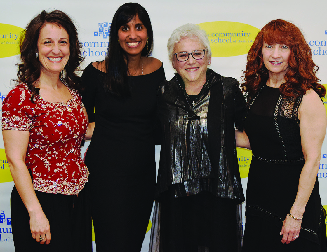 From left to right: Head of School, Andrea Katzman and the co-chairs of the event, Rashmi Licht, Leah Ehrenhaus-Hersh and Marisa Garber.