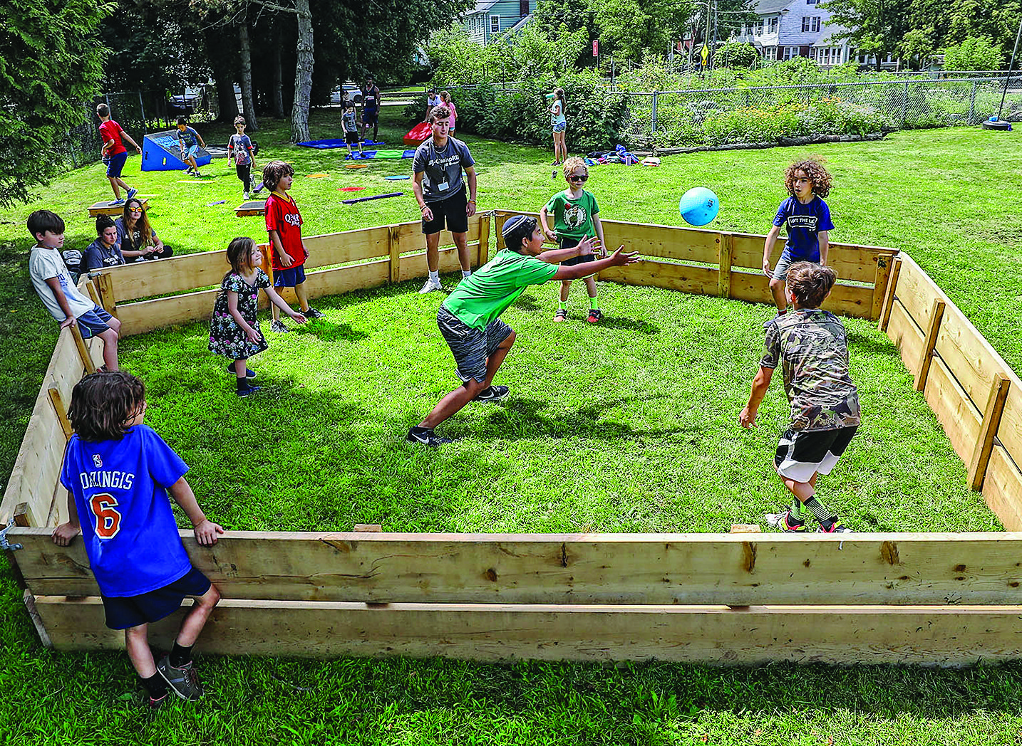 There's nothing like a game in J-Camp's gaga pit. Gaga is an Israeli game that all the campers enjoy.