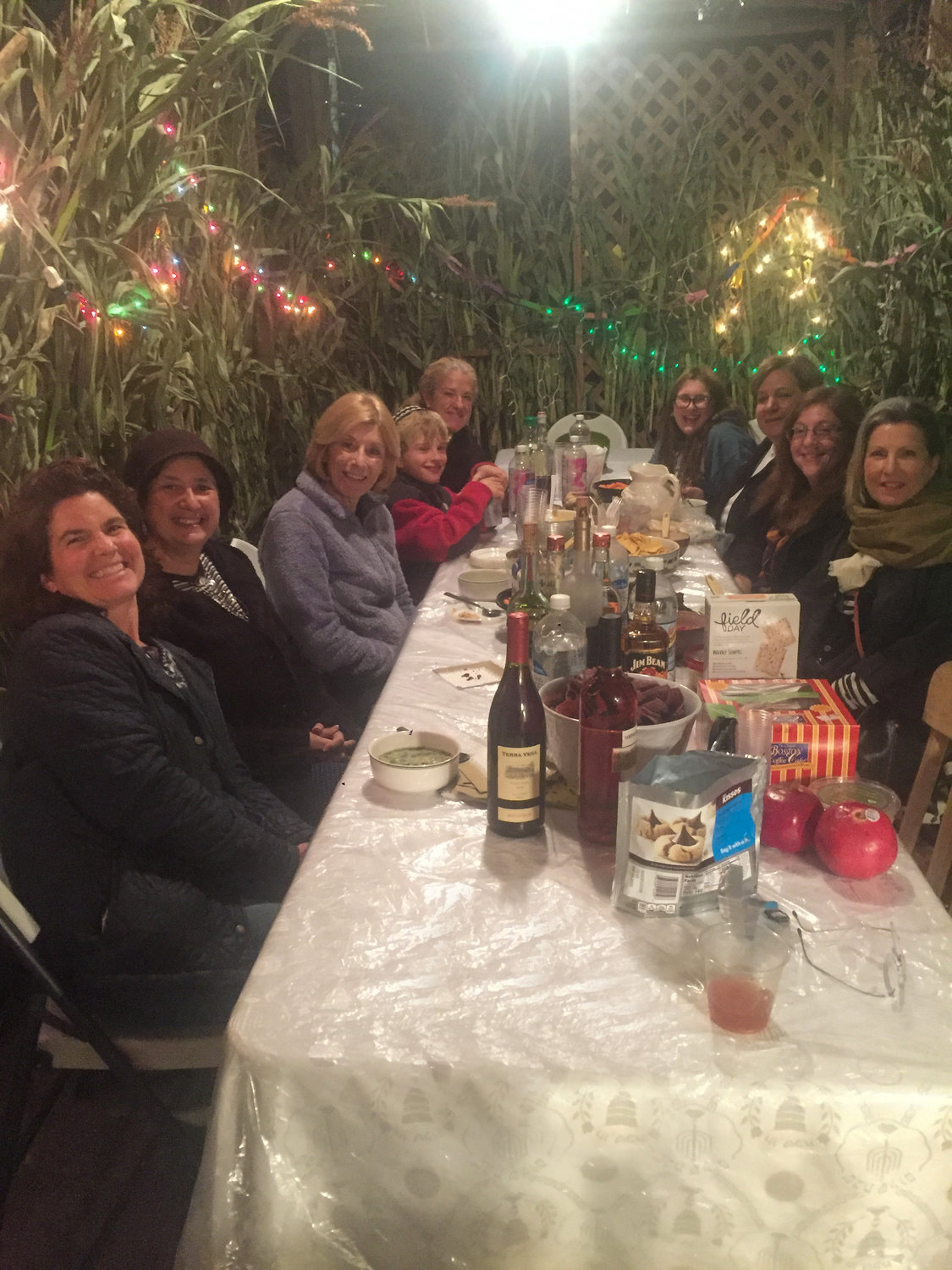 Core Connect Rhode Island hosted a program in the sukkah at Elissa Felder's home.