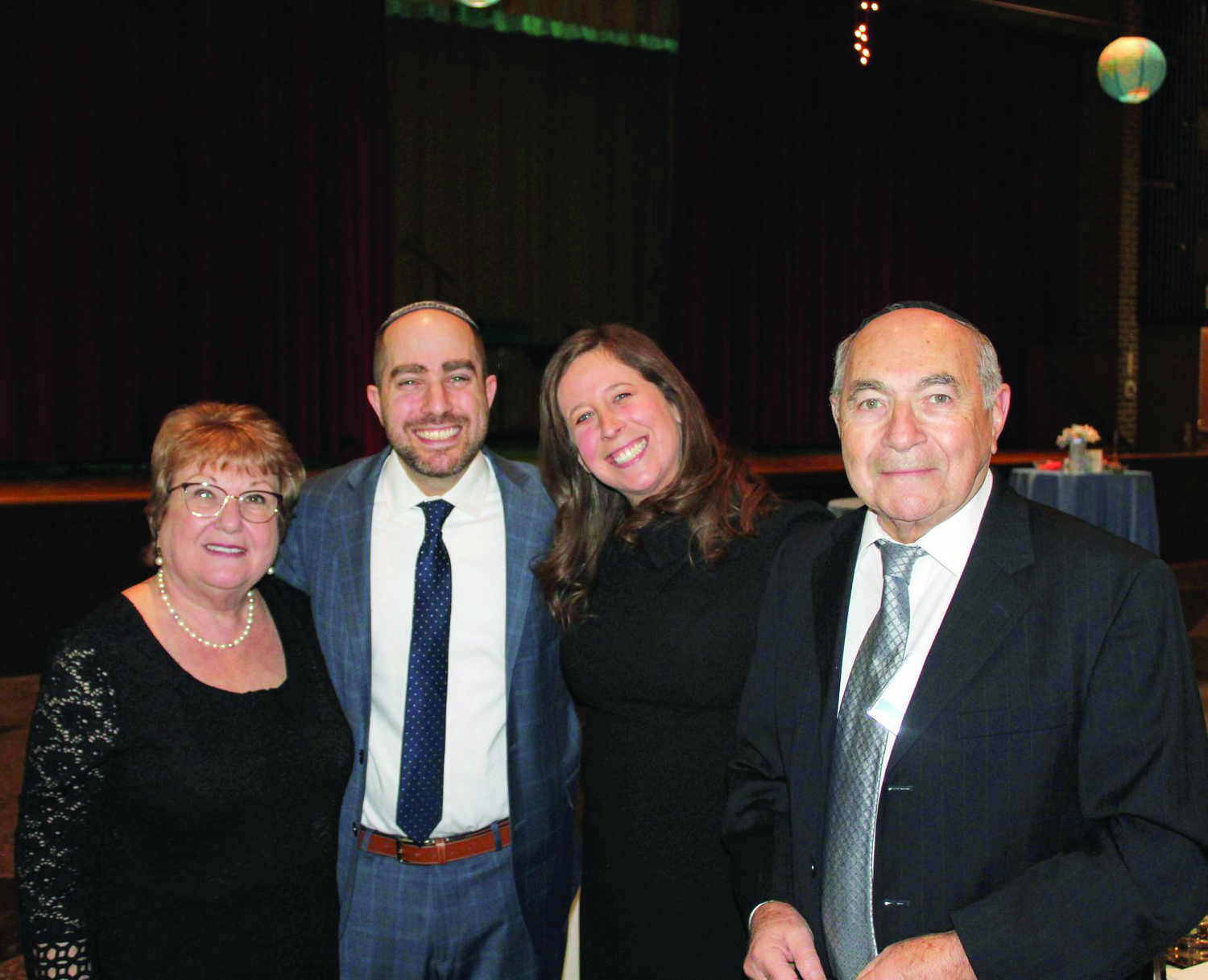 Family photo (left to right): Susana Fel, Rabbi Michael Fel, Shayna Fel, and Isaac Fel. Susana and Isaac are Rabbi Fel's parents.