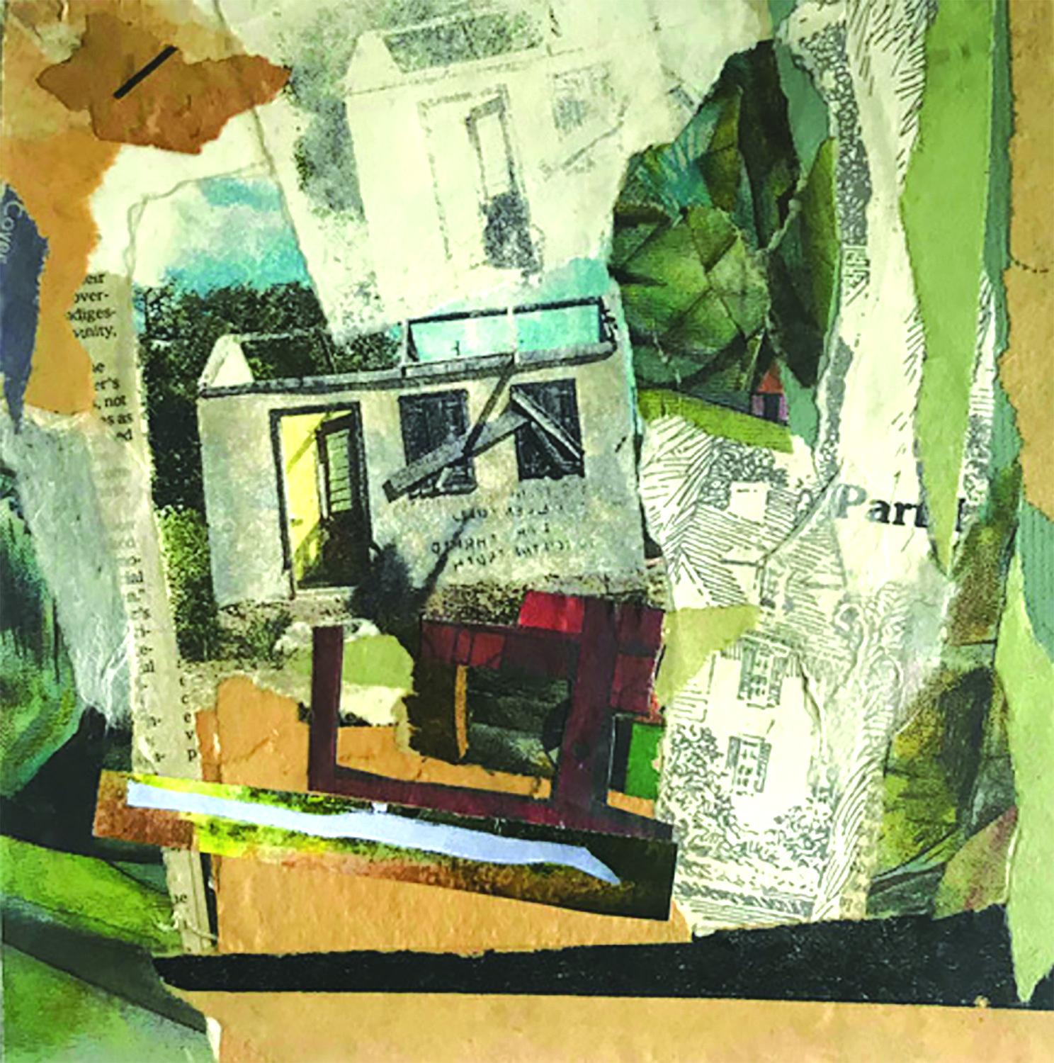 """Unoccupied""   Paula Most,  monotype with photo transfer"