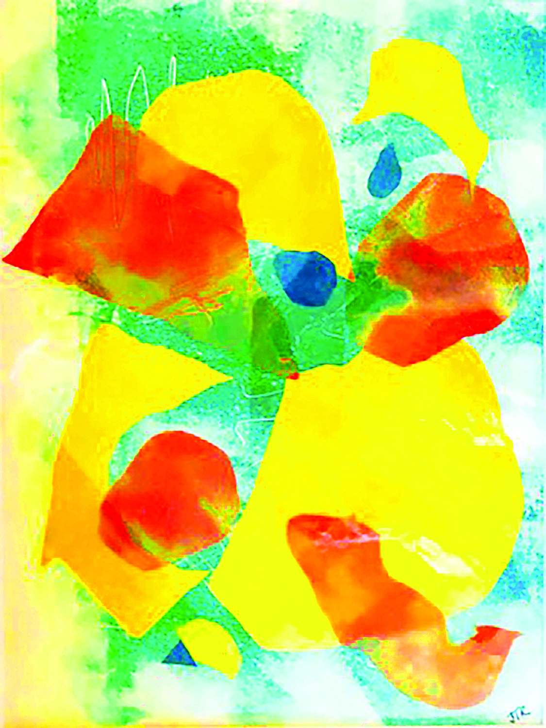 """Abstraction,"" Jane Roberts, monotype"