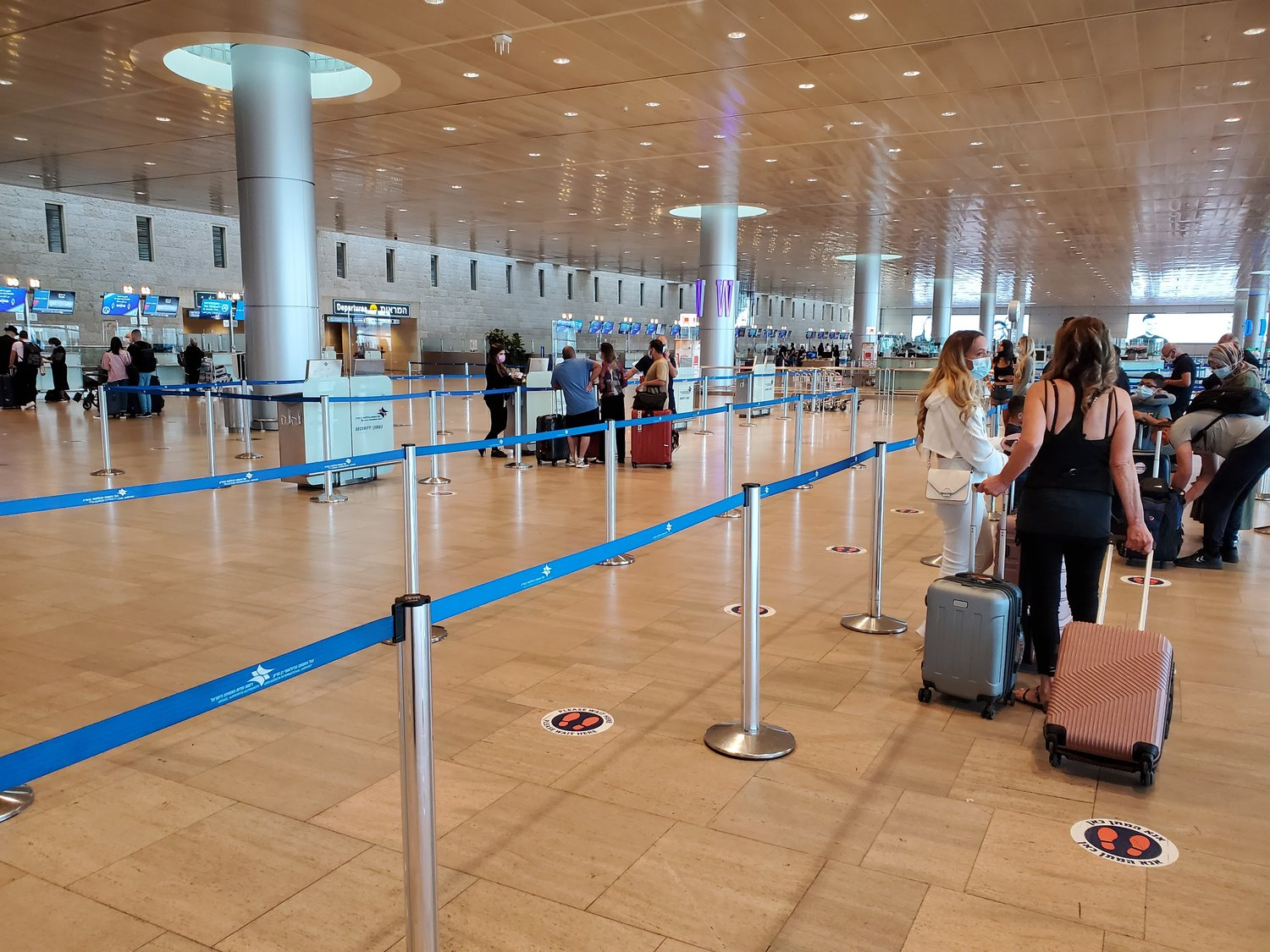 Ben Gurion Airport on the writer's trip to the U.S.