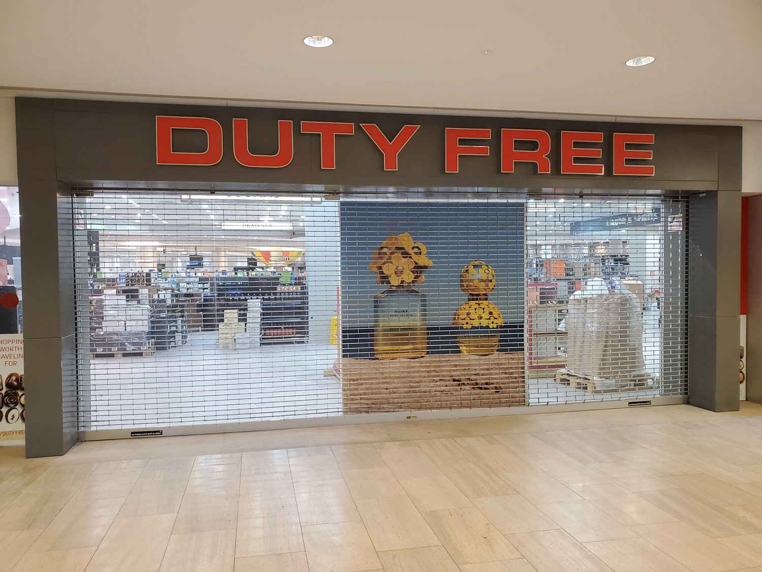 The closed Duty Free shop at Ben Gurion Airport in October.