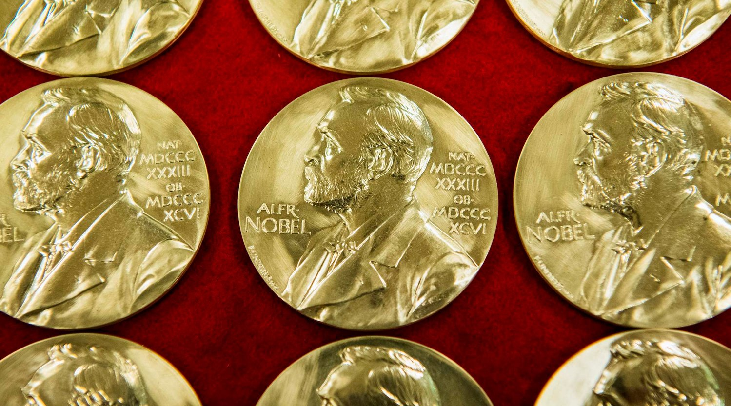 Nobel Prize medals are pictured at the end of the production on October 29, 2019 in Eskilstuna, Sweden. - The Nobel Prize awards ceremonies will take place on December 10, the anniversary of the death of the founder of the prize, Swedish industrialist and philanthropist Alfred Nobel. (Photo by Jonathan NACKSTRAND / AFP) (Photo by JONATHAN NACKSTRAND/AFP via Getty Images)