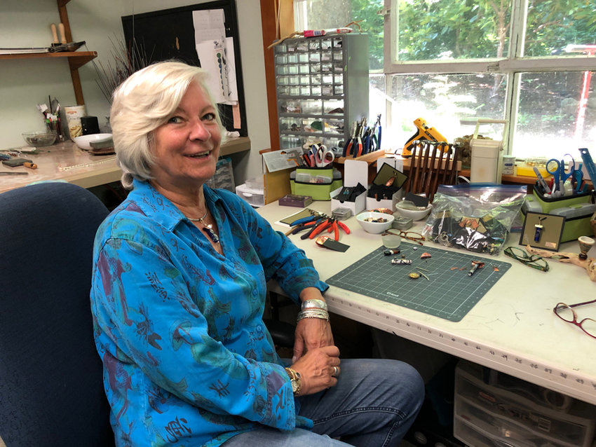 Rydell captured in her studio.