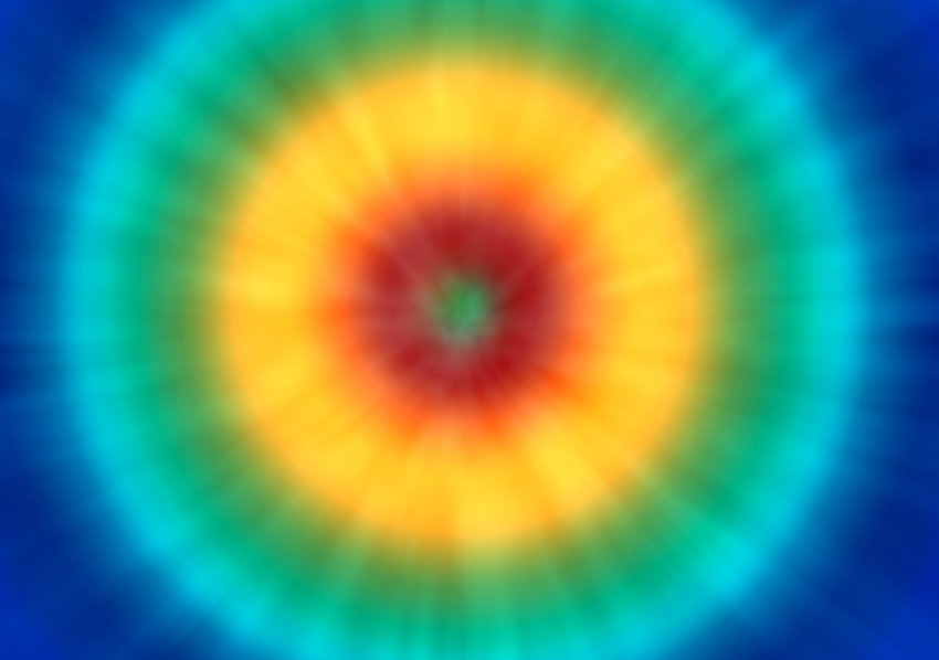 a bright psychedelic tie dye background with a retro look