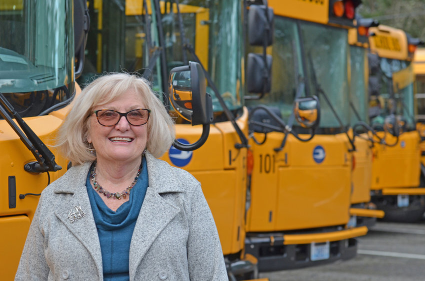 Annie Bell moves PSD school buses to the tune of 1.5 million miles a year.