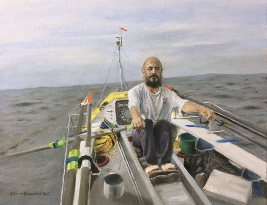 A true story so incredible it inspired an oil painting by local artist Chris Bronstad based on a self-portrait.
