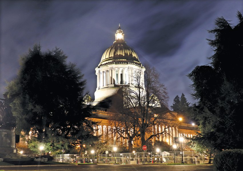 State Capitol on first day of session.