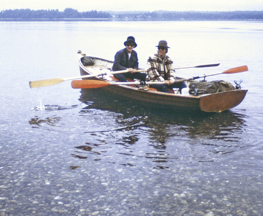 Smitty and Rick launch from Vaughn Bay, June 1970.