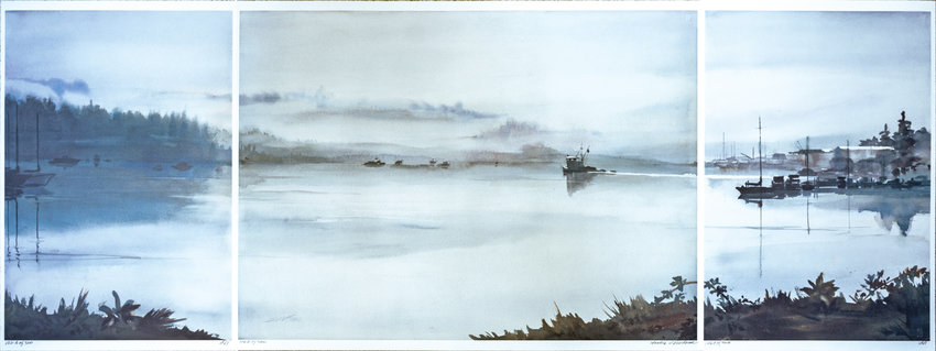 The Newhouse triptych, Harbor Morning, 2018.