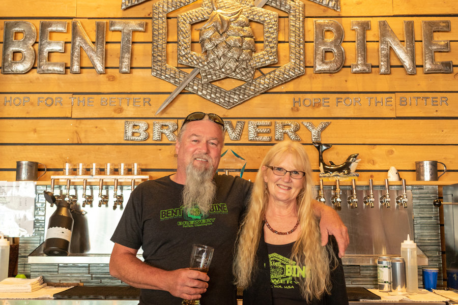 Bent Bine Brew Co. owners Tim and Colleen Masbruch.