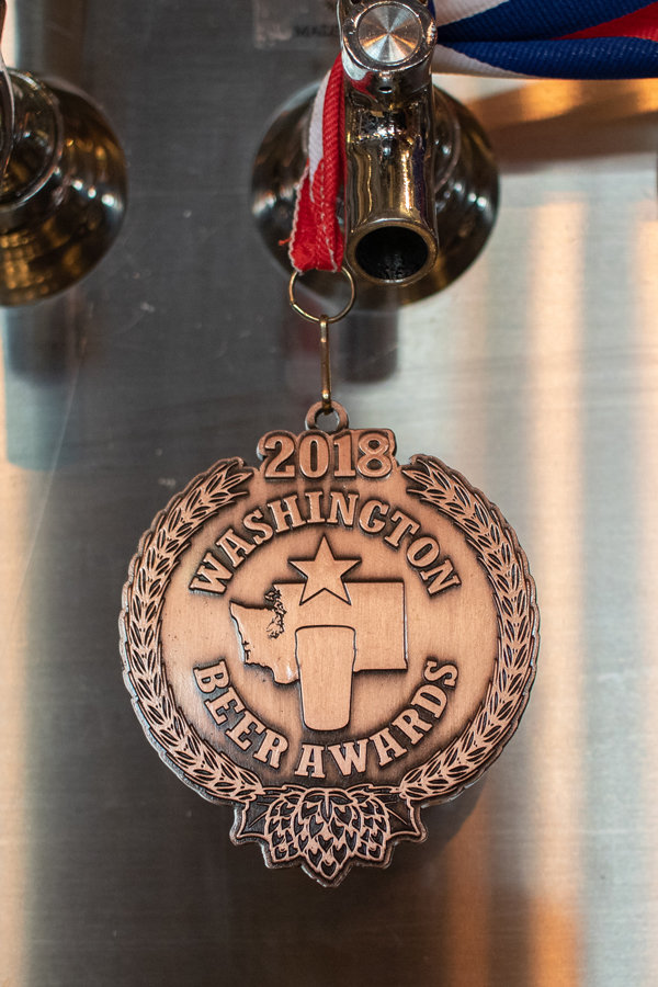 Bent Bine Brew Co. received a bronze medal in the 2018 Washington Beer Awards for their Peaceable American Porter.