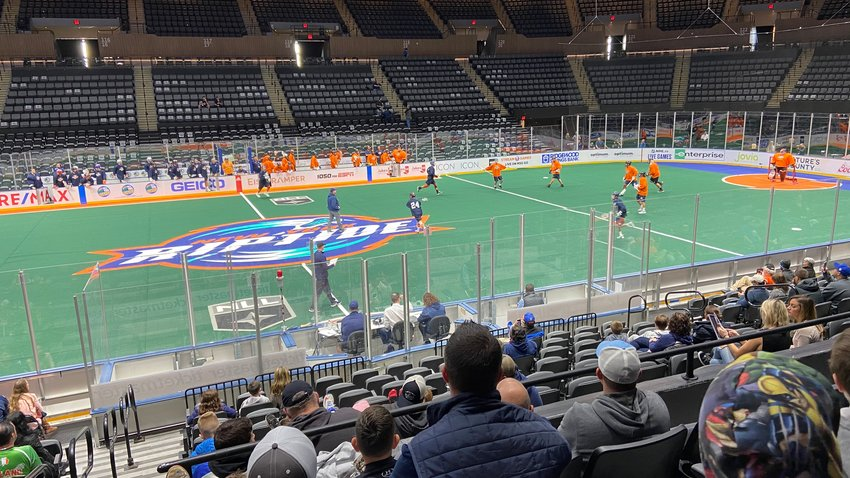 Fans watch on as the New York Riptide hold an open practice session on Nov. 2, 2019 at NYCB Live's Nassau Coliseum.