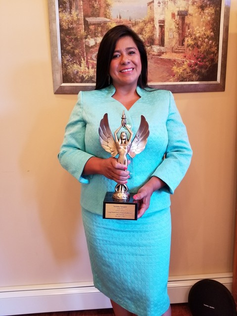 Yesenia Vasquez, an East Meadow activist, was honored with a Long Island Power Women in Business award by the Star Network last December.