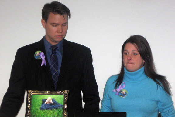 Henning and Michele Witte of Merrick testified that their son Tyler was also killed in a drop-side crib.
