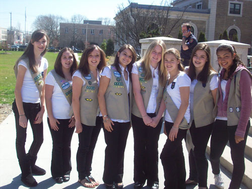 East Meadow Girl Scout Troop No. 1108.