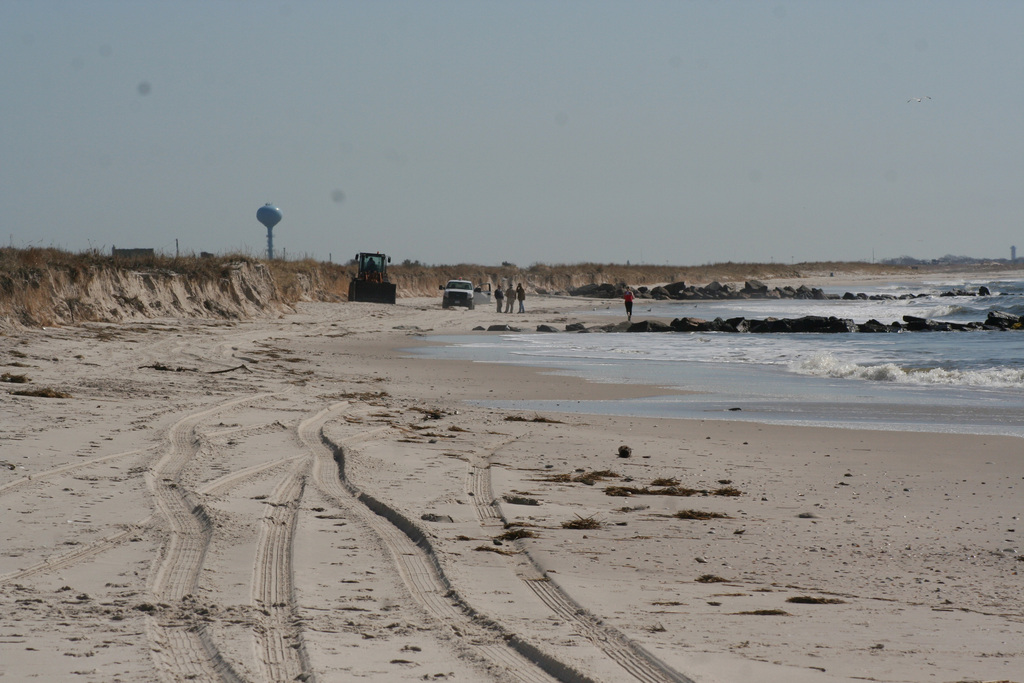 Lido West beaches took a heavy beating this winter, most of it in two nor'easters last month that ate away at the 15-foot-high sand dunes.