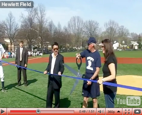 On April 7, a new field was dedicated for the Hewlett High School and Woodmere Middle School baseball teams.