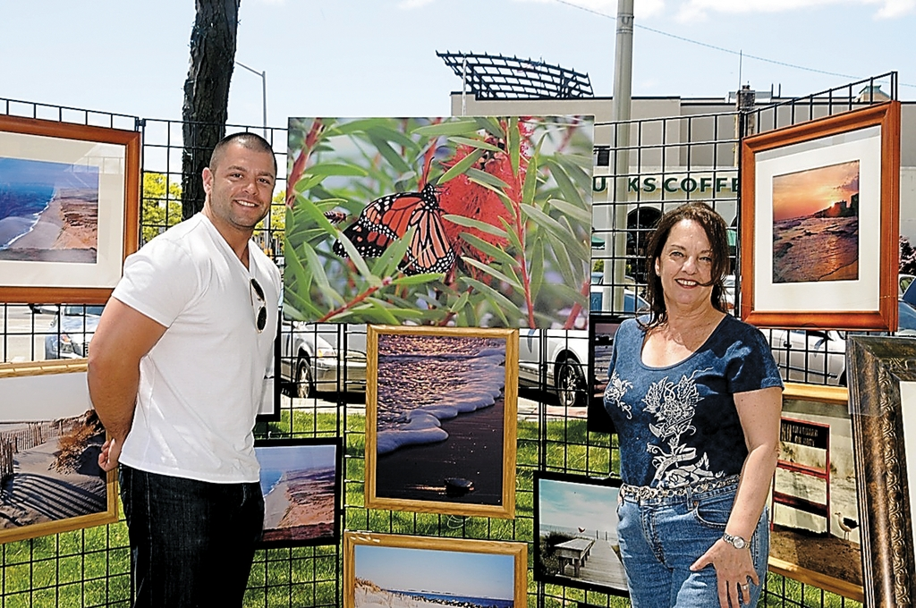 Michael Gallose and Joanne Errante showcased their photographs at the first Art in the Plaza festival, a weekly Sunday event at Kennedy Plaza outside Long Beach City Hall.