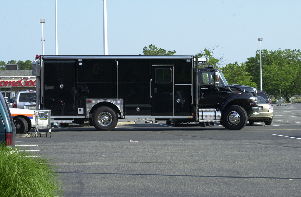 The Nassau County Police Department's bomb squad on the scene.