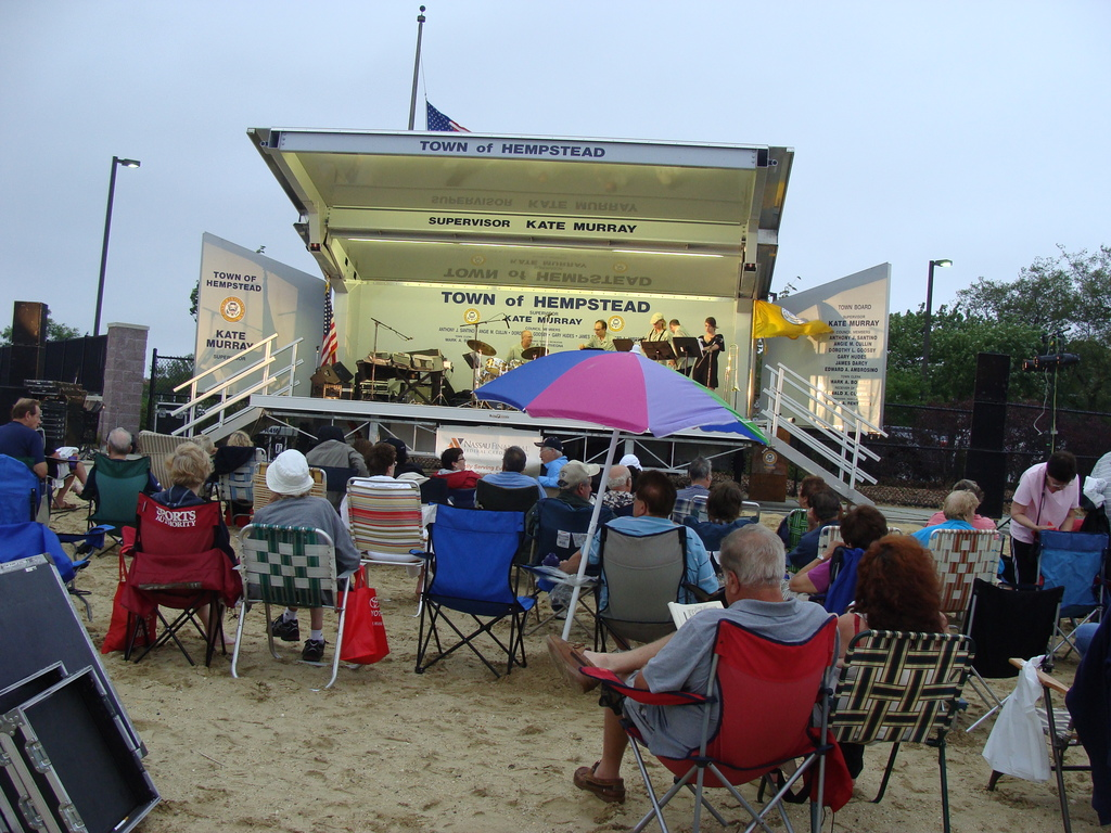 Audience on the beach