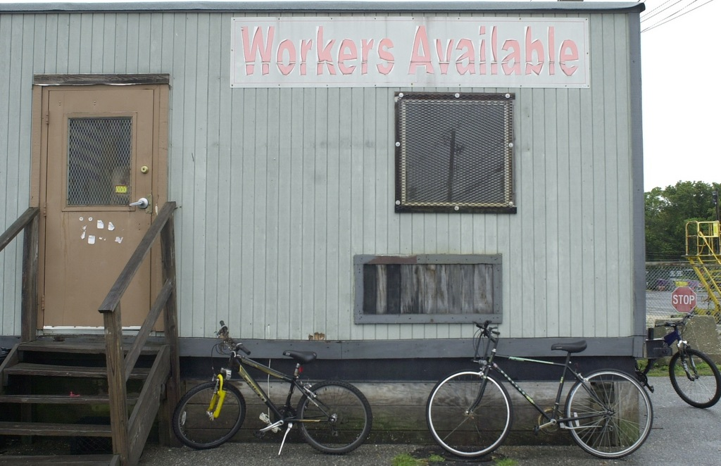 Workers generally ride bikes or walk to the trailer because they have no other transportation.
