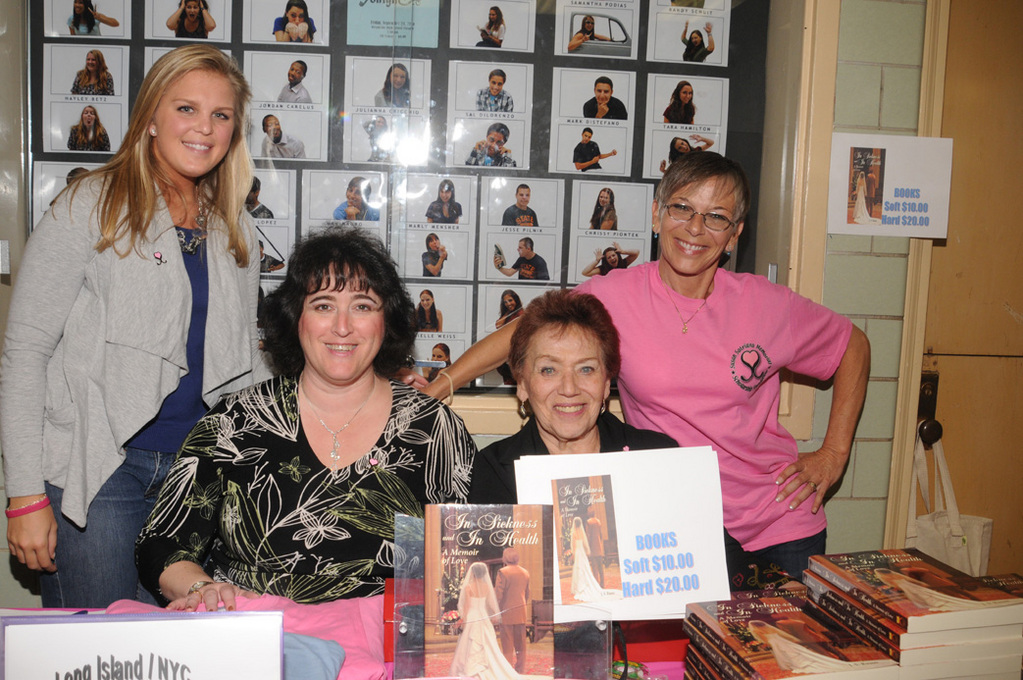 "Amanda Kronenberger, left, Ilene Schuss, Joyce Arberman and Jamee Schleifer sold Joe Satriano's book, ""In Sickness and Health,"" as part of the fundraiser."