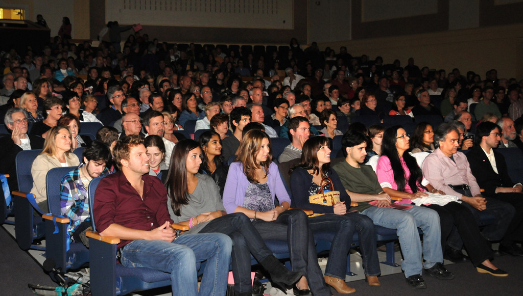 The OHS auditorium was packed for the Strawberry Fields concert.