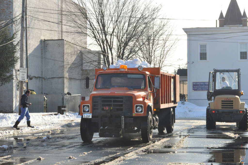 The village has made preparations to have streets cleaned as soon as possible after snow stops.