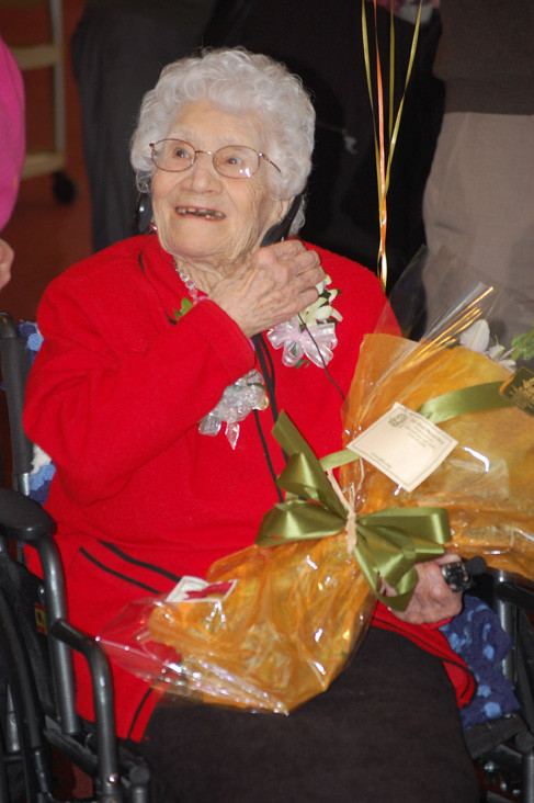 Marietta Capizzi, who lived in Valley Stream for 30 years, celebrated her 110th birthday at the Sunrise Senior Living facility in Glen Cover on Jan. 29.