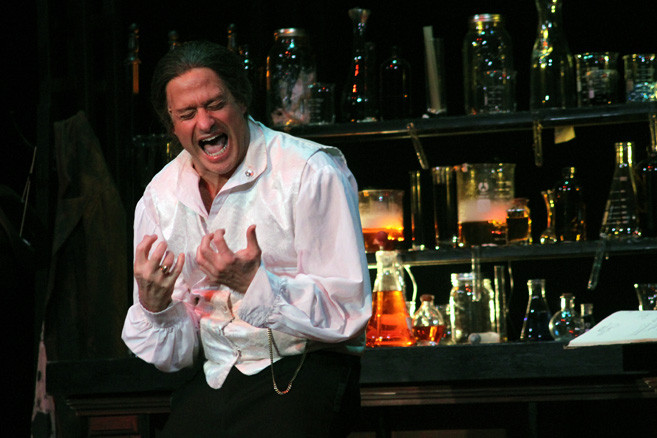 David Yudell shows his good and evil sides in DDB Productions Inc.'s staging of Jekyll & Hyde The Musical, at SUNY Old Westbury's Maguire Theatre, through Feb. 20.