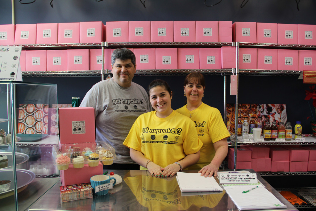 Got Cupcakes? is a family-run business. Pictured are Jimmy, Cassie and Nancy Moniodes.