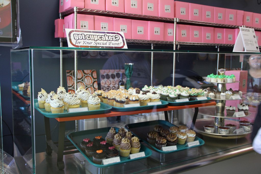 The store sells only cupcakes, offering a wide variety of flavors with specialty flavors for holidays.