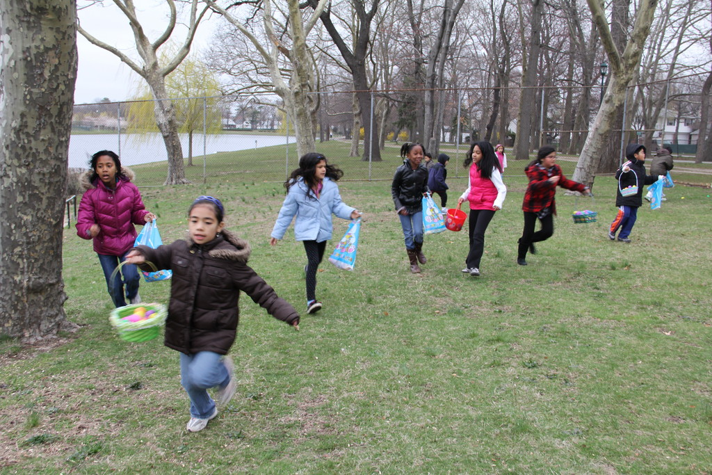 Children from Valley Stream ran through the park to find as many Easter eggs as they could during the annual egg hunt last Saturday morning hosted by the village's Recreation Department.