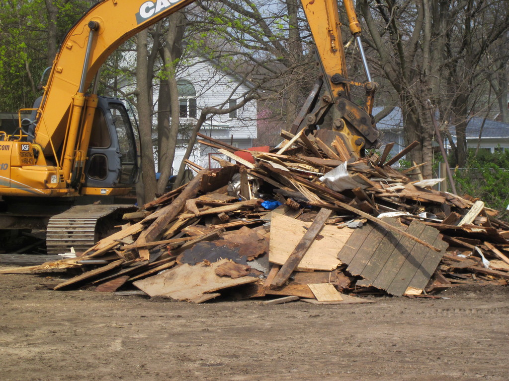 The pony barn at Lakewood Stables was demolished.