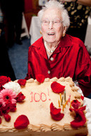 Beatrice Glück at her 100th birthday celebration.