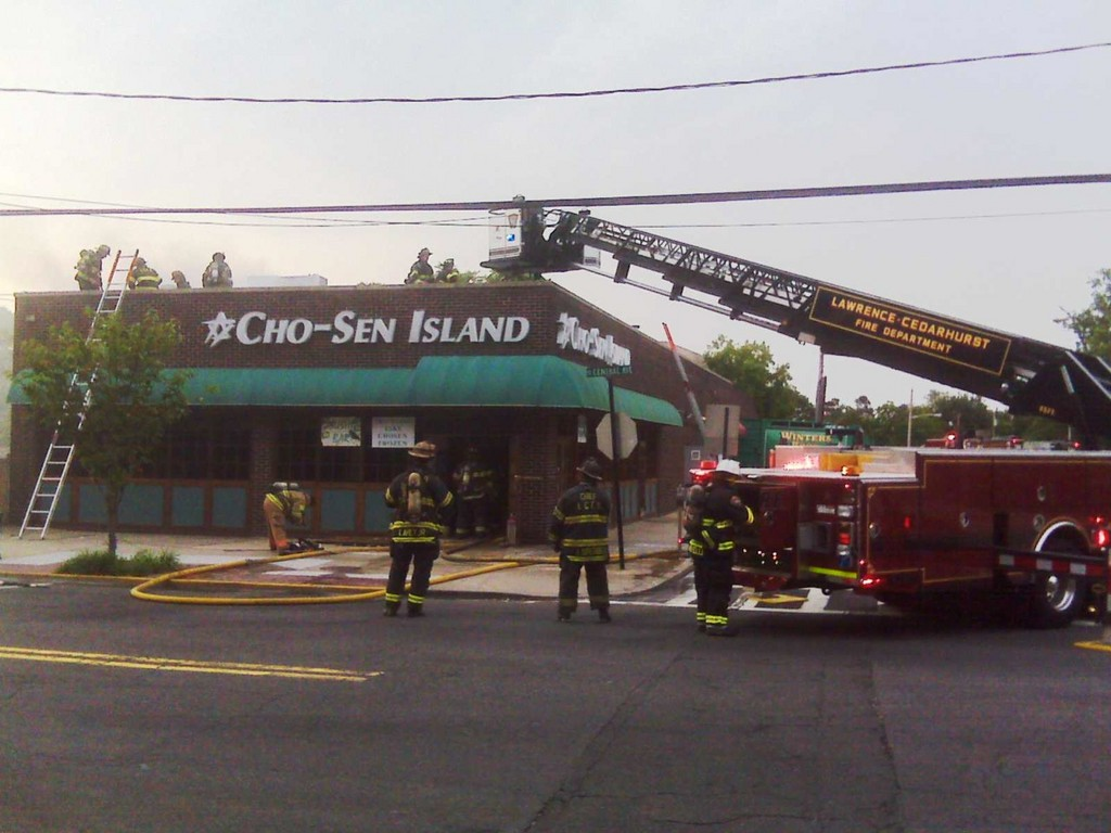 Several local fire departments responded to an early morning fire at Cho-Sen Island restaurant in Lawrence.