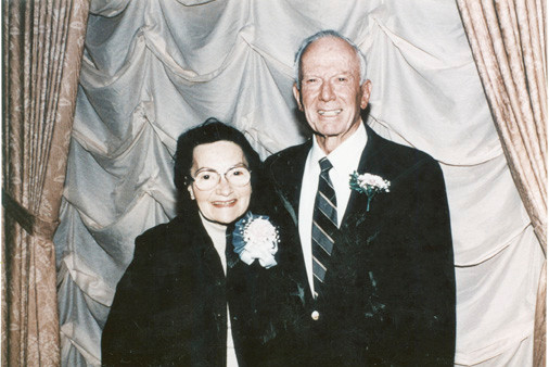 "Lenore and former Rockville Centre Mayor Leonard Sandel at a 1995 fundraiser at Central Synagogue. Of their 68 years together, Leonard said, ""We had a most unusual and exploratory life."""