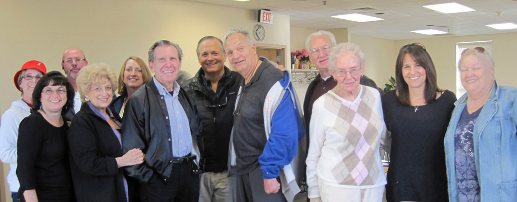 Darleen Schauder, 2nd from right, and Ben Thomas, 6th from right, posed for a picture with Stroke Life Society members.