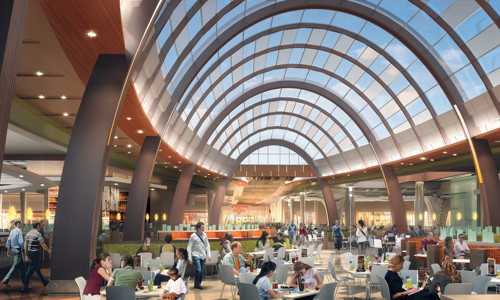 This is a rendering of what the new food pavilion at Roosevelt Field Mall may look like.