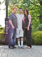 Lawrence Woodmere Academy junior Tristan Braverman, center, who has autism, credited his parents, Steve and Stacy, for providing him with early-intervention therapy as a child, which greatly improved his social skills.